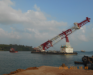 54m Piling Barge